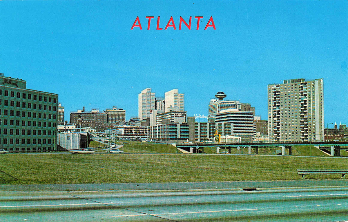 Atlanta Skyline As Seen From The Connector Ca 1970